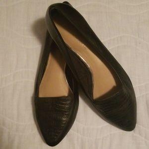 Antonio Melani black leather flats.